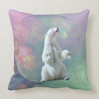 Eisbär-Blasen-Kissen Kissen