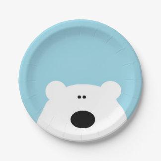 Eisbär-Blau Pappteller
