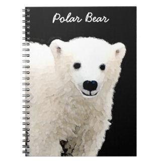 Eisbär-CUB-Malerei - ursprüngliche Tier-Kunst Notizblock