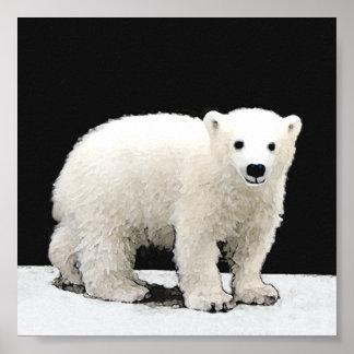 Eisbär CUB Poster