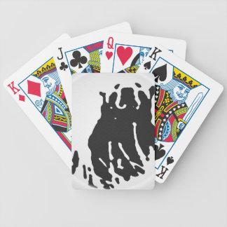 Eisbär im Grau Bicycle Spielkarten