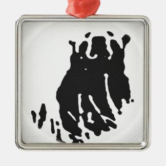 Eisbär im Grau Silbernes Ornament