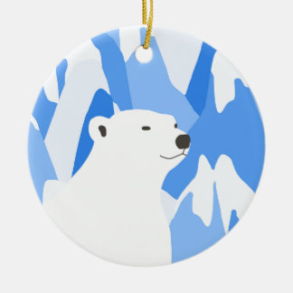Eisbär im kalten Entwurf Keramik Ornament
