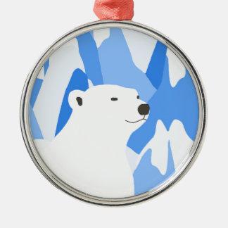 Eisbär im kalten Entwurf Silbernes Ornament