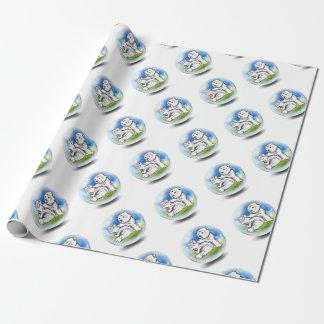 Eisbär in der Blase Geschenkpapier