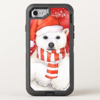 Eisbär in einer Sankt-Kappe - Weiß der OtterBox Defender iPhone 8/7 Hülle