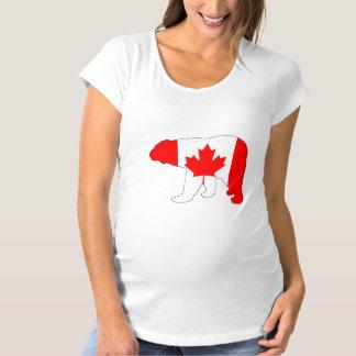 """Eisbär """"Kanada """" Schwangerschafts T-Shirt"""