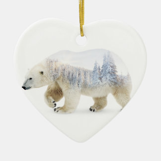 Eisbär Keramik Ornament