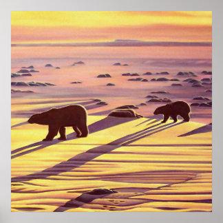 Eisbär-malendes Poster