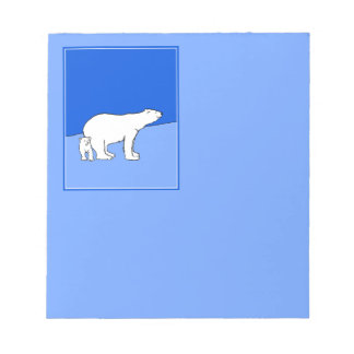 Eisbär-Mamma und CUB Notizblock