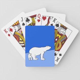 Eisbär-Mamma und CUB Spielkarten