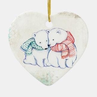 Eisbär-Paare Keramik Ornament