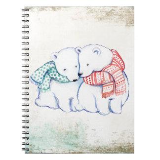 Eisbär-Paare Notizblock