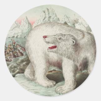 Eisbär-Plakat-runder Aufkleber