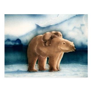 Eisbär Postkarte