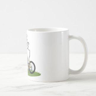 Eisbär-Radfahrer Kaffeetasse