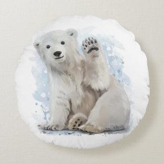 Eisbär Rundes Kissen