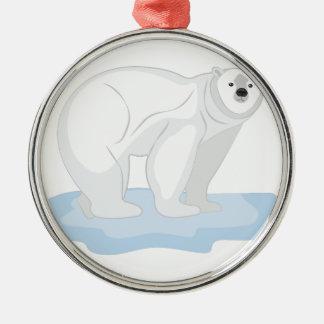 Eisbär Silbernes Ornament