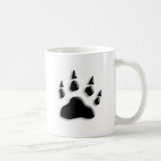 Eisbär-Tatzen-Druck Kaffeetasse