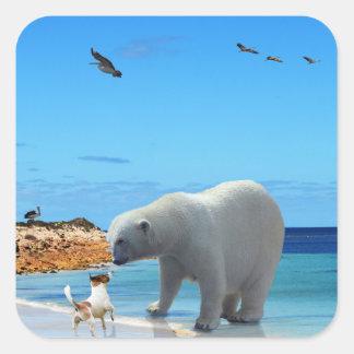 Eisbär-Treffen, Quadratischer Aufkleber