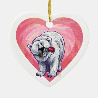 Eisbär-Valentinstag Keramik Ornament