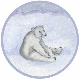 Eisbär-Verzierung Fotoskulptur Ornament