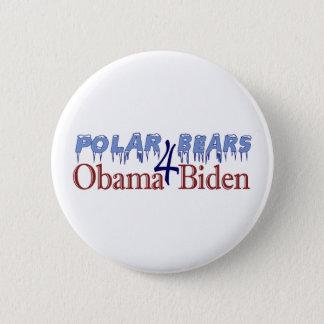 Eisbären für Obama Biden 2008 Runder Button 5,1 Cm
