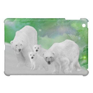 Eisbären, Junge und Nordlichter iPad Mini Hülle