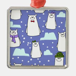 Eisbären Silbernes Ornament