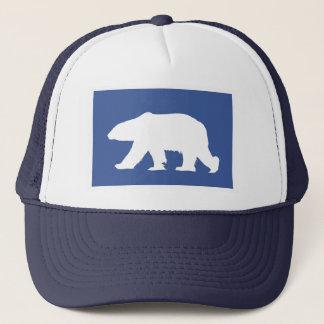 Eisbärhut. Geben Sie eine Erklärung ab Truckerkappe