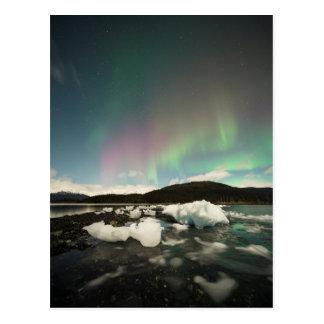 Eisberg-Aurora Postkarte
