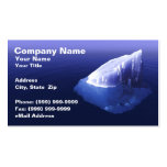 Eisberg im klaren blauen Wasser Visitenkarten
