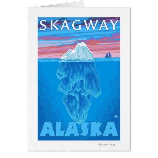 Eisberg-Querschnitt - Skagway, Alaska Karte