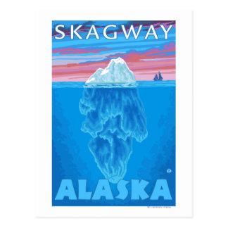 Eisberg-Querschnitt - Skagway, Alaska Postkarte