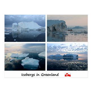 Eisberge in Grönland Postkarte