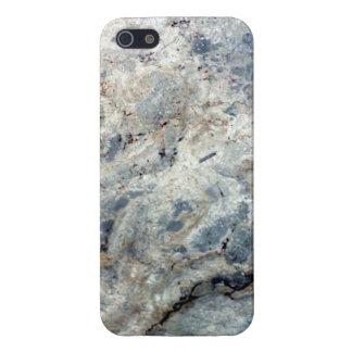 Eisblauweißes Marmorsteinende iPhone 5 Etuis