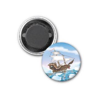 Eisbrecher-Schiff Runder Magnet 3,2 Cm