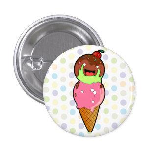Eiscreme-Freunde Runder Button 3,2 Cm