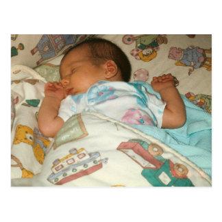 Eiscreme-Geburtsmitteilungs-Fotokarte Postkarte