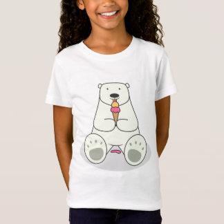 Eiscreme-Liebhaber-polarer Bärangepasster T-Shirt