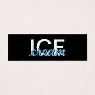 Eiscreme-Lochkarte Mini-Visitenkarten