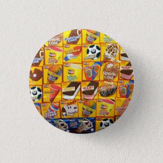Eiscreme-Menü: Kleiner Knopf Runder Button 2,5 Cm