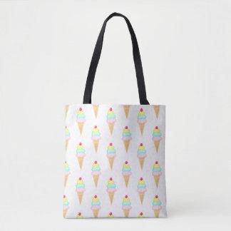 Eiscreme mit besprüht - Taschen-Tasche Tasche