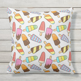Eiscreme-Muster-Wurfskissen Kissen Für Draußen