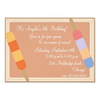 Eiscreme-Partei Brown-Geburtstagseinladungen 12,7 X 17,8 Cm Einladungskarte
