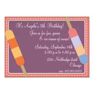 Eiscreme-Partei lila Geburtstagseinladungen 12,7 X 17,8 Cm Einladungskarte