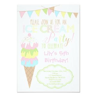 Eiscreme-Party Einladung
