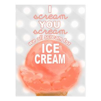 Eiscreme-Party Einladung oder Werbeaktion - Postkarte