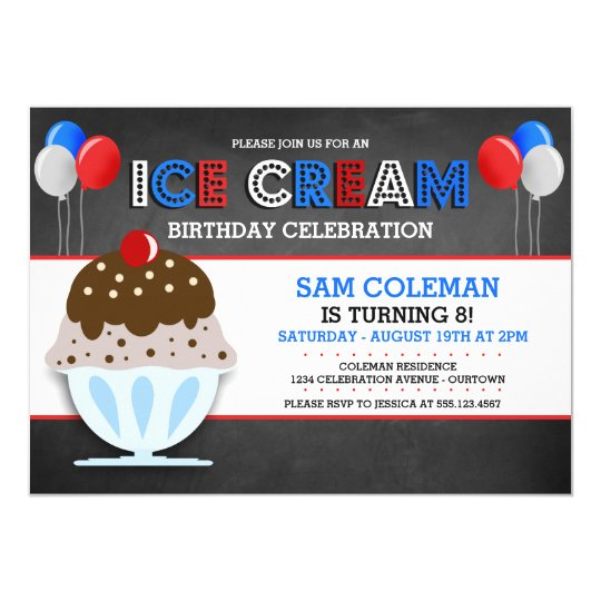 Eiscreme-Party Einladungen