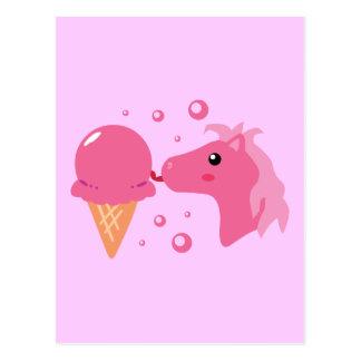 Eiscreme-Pony Postkarte